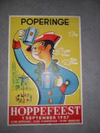Poperinghe  Poperinge  Hoppefeest  1957  hoppe houblon -  afm : 70 x 49 cm