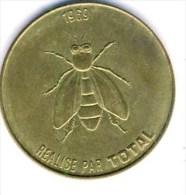 JETON PUBLICITAIRE COLLECTION TOTAL ESSENCE # 1969 # ABEILLE # MUSEE VERSAILLES # BONAPARTE FRANCHIR ALPES  1800  DAVID - Reclame