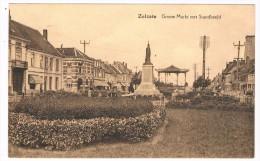 B-5632   ZELZATE : Groote Markt Met Standbeeld - Zelzate