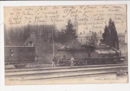 Cpa BESSE SUR BRAYE Train Sur Voie Locomotive Wagon Chauffeur Cheminots Ed Laselle - France