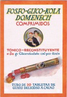 15549. Propaganda Folleto Triptico FOSFO GLICO COLA Domenech. Tonico De Barcelona - Advertising