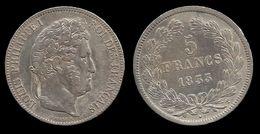 LOUIS - PHILIPPE I . 5 FRANCS . TÊTE LAUREE . 1833 T . ( NANTES ). TRANCHE EN RELIEF . - France