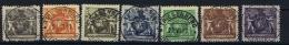 Liechtenstein: 1921 Mi Nr 45B - 52 B  Used Perfo 12,50 - Liechtenstein