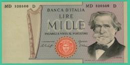 1000 Lire - Italie - N°. MD 320500 D -  Sup - [ 2] 1946-… : République