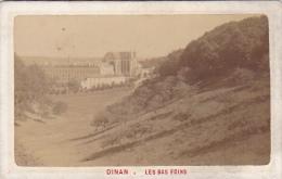 Cpa/photo-22-dinan-les Bas Foins-publicité Librairie Eugene Tessier Rue Du Marchix-2 Scans - Dinan