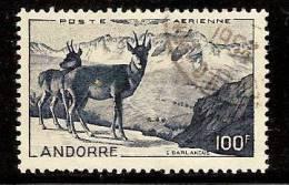 DH2054. ANDORRE FRANCAIS OBLITERE,  AERIENNE.
