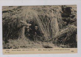 IJzer 1914: Belgische Piotten Schuilen Tegen De Kou - Guerre 1914-18