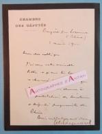 L.A.S 1902 (Edouard AYNARD ?) Château De BAYERE Par LOZANNE Vers CHARMAY (Rhône) - Chambre Des Députés Lettre LAS - Autographes