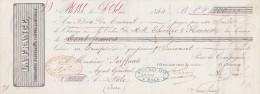 Lettre Change 2/5/1860 LA FRANCE Compagnie Assurance PARIS Pour Dôle Jura - Bills Of Exchange