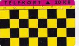Denmark, JS 011, Chess Game A - H, 2 Scans. - Denmark