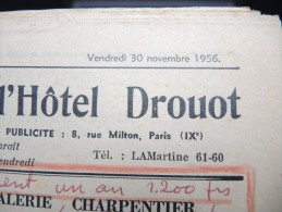 """Journal """" Gazette De L 'hotel Drouot """" En 1956 - A Voir - Lot P12302 - 1950 à Nos Jours"""