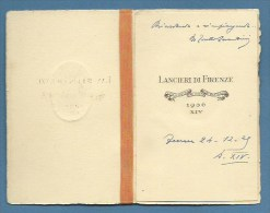 """CALENDARIO 1936  - LANCIERI DI FIRENZE """"con L'animo Che Vince Ogni Battaglia"""" -  CON NASTRO DI SETA...GRANDE ELEGANZA - Formato Piccolo : 1921-40"""