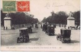 Cpa  PARIS  L Avenue Des Champs Elysees Et Les Chevaux De Marly - Champs-Elysées