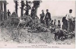 Cpa CAMP DE  COETQUIDAN  FANTASSINS DEFENDANT UNE POSITION - Barracks