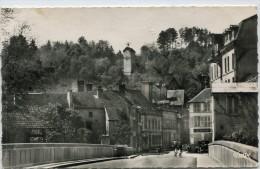 CPSM 10  BAR SUR SEINE LA RUE THIERS L HORLOGE 1958 - Bar-sur-Seine