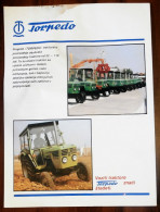 TORPEDO TRACTOR (Croatia) TRATTORI, TRAKTOR TRACTOR TRACTEUR Agricoles Agricultural Landmachinen - Tractors