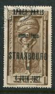 """1925 Paris Exposition With 1927 Venez Tous Strasbourg Overprint Poster Stamp Vignette Label No Gum 1 1/4 X 2 1/8"""" - Cinderellas"""