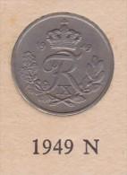 Denmark, 10 Øre, 1949 N, 2 Scans.  Copper-Nickel - Dänemark