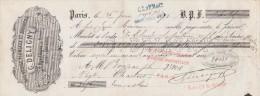 Lettre Change 26/6/1869 DELIGNY Brosserie Sparterie Plumeaux Rue D'Anjou Marais Usine Montmartre PARIS Pour Chartres - Lettres De Change