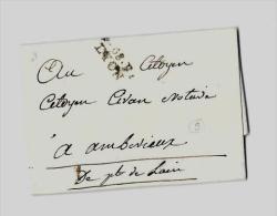RHÔNE ( 68 ) – LYON  Tarif Du 28.12.1796  Au 22.9.1800L.I. 1°Ech. - Storia Postale