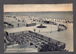 1957 MIRAMARE DI RIMINI LA SPIAGGIA FG V SEE 2 SCANS ANIMATA FILOBUS - Rimini