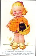 PK - Humor Humour - Meisje Met Kat - Fille - Chat - Illustrateur D. Tempest - Cartes Humoristiques