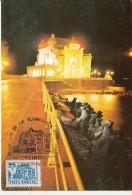 TOURISM, CONSTANTA CASINO BY NIGHT, CM, MAXICARD, CARTES MAXIMUM, 1992, ROMANIA - Holidays & Tourism