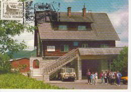 TOURISM, DRAGAN VALLEY CHALET, CAR, CM, MAXICARD, CARTES MAXIMUM, 1993, ROMANIA - Other