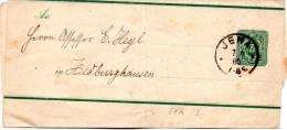 """DR Ganzsache S 7A Streifband """"Pfennig"""" 5 (Pfg) Blaugrün, TSt JENA, 7.6.85 - Postwaardestukken"""
