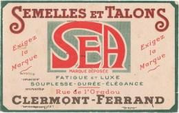 Buvard   SEMELLES ET TALONS SEA  CLERMONT FERRANT - Buvards, Protège-cahiers Illustrés