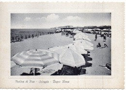 Toscana-pisa-marina Di Pisa Veduta Spiaggia Bagno Roma Animatissima Anni 50 - Italia