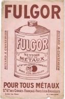 Buvard   FULGOR Nettoie Topus Les Metaux - Buvards, Protège-cahiers Illustrés