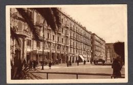 1933 BARI CORSO CAVOUR HOTEL ORIENTE FP V SEE 2 SCANS TARGHETTA MOSTRA RIV FASCISTA ANIMATA - Bari