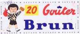 Buvard   20  GOUTER BRUN - Buvards, Protège-cahiers Illustrés