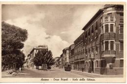 Marche-ancona-ancona Corso Tripoli Viale Della Vittoria Veduta Tram Cartello Pubblicita' - Ancona