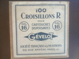 - Boite De Croisillonts R - Calibre 16 - Gévelot - - Militaria
