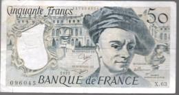 FRANCIA - FRANCE = 50 Franc 1991  P-152 - 1962-1997 ''Francs''