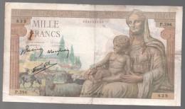 FRANCIA - FRANCE = 1000 Franc 1942 P-102 - 1871-1952 Antiguos Francos Circulantes En El XX Siglo
