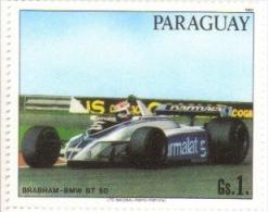 Paraguay  -  Voitures De Course  -  Brabham BMW BT50 F1 -  Nelson Piquet  - Neuf - MNH - Automobilismo