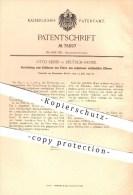 Original Patent - Otto Reiser In Deutsch - Krone , 1893 , Entfernen Von Eiter Aus Zähnen , Zahn , Zähne , Zahnarzt !!! - Historische Dokumente