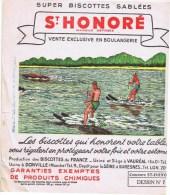 Buvards  Biscottes Sablees St HONORE - Buvards, Protège-cahiers Illustrés