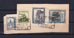 SEVILLA. FRAGMENTO EDIFIL 12-13HCC Y 14 - Nationalistische Ausgaben