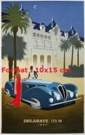 Reproduction D'une Photographie D'une Affiche Delahaye 135 M De 1937 - Repro's