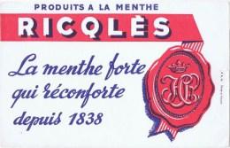 Buvards  Produits A La Menthe Ricqles - Blotters