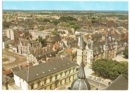 Nevers (58) Vue Aerienne Du Palais Ducal ( 15 Et 16°S ) à Gauche La Place Carnot - Nevers