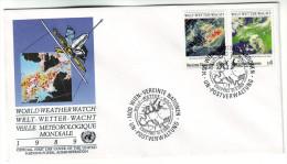 142 United Nations Vienna 1989 World Weather Watch Mi 92-93 - FDC