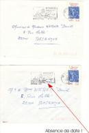 Marque Linéaire HYERES  Principal     A)      Avec Date Du 17-09-1986  B)      Absence De Date - Curiosidades: 1980-89 Usados