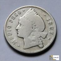 Dominican Republic - 1/2 Peso - 1897 - Dominicaine