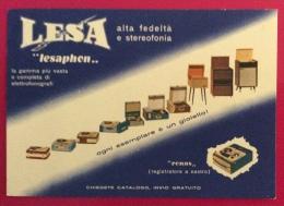 LESA LESAPHON - GIRADISCHI ELETTROFONOGRAFI ALTA FEDELTA' E STEREOFONIA - VIAGGIATA ANNULLO 43 GIRO D'ITALIA - Publicidad