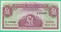 1 Livre - Angleterre - British Armed Forcers - 4Th Séries - Spécial Voucher - N° K/2 333008 - Neuf - [ 6] Conmemorativas